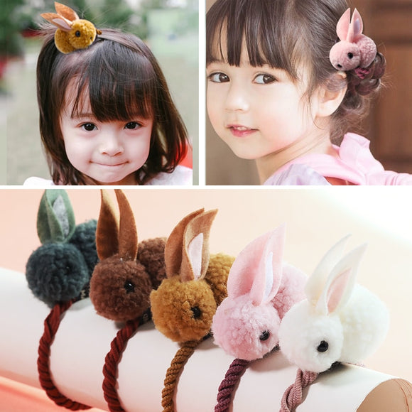 Oh SO Cute Bunny Hair Bands | Felt Plush Rabbit Ears | Hair Ties For Children | Girls Hair Accessories