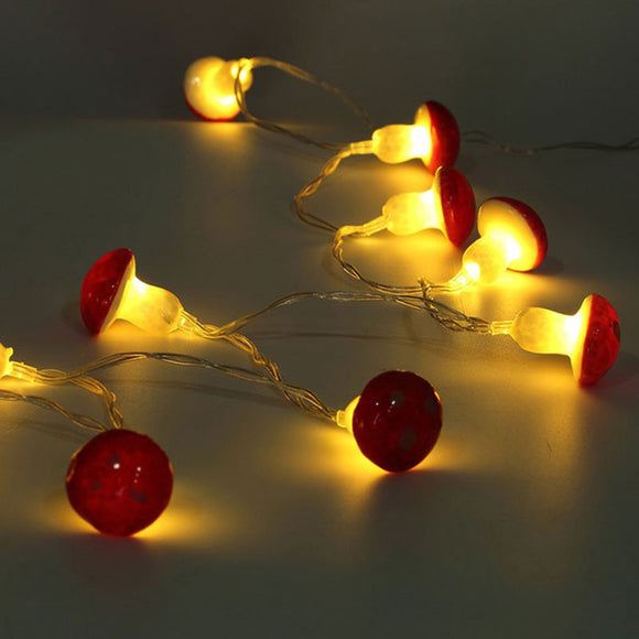 Mushroom String Lights | 2 meters | 30 LED | Battery Operated