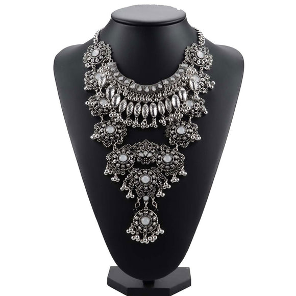 Gypsy Vintage Maxi Statement Necklace | Bohemian | High Quality Crystal