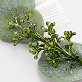 Green Leaves Wedding Hair Comb