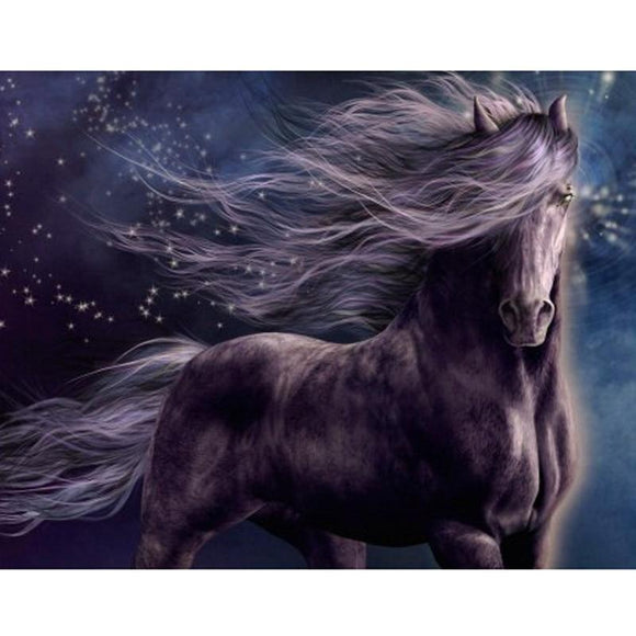 Black Stallion | CRYSTAL MOSAIC PAINTING | DIY CRAFT KIT
