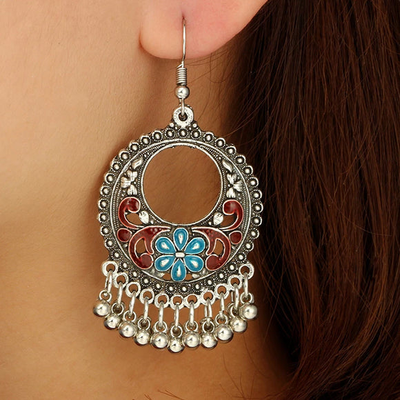 Gypsy Vintage Carved Earrings