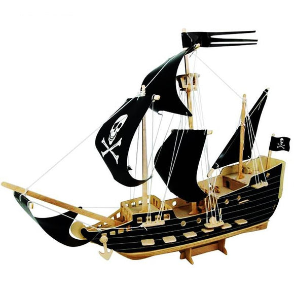 The Black Pearl | DIY Kit | 3D Wooden Puzzle For Children And Adults | Montessori