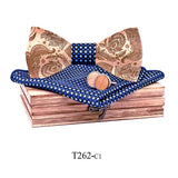 Paisley Wooden Bow Ties