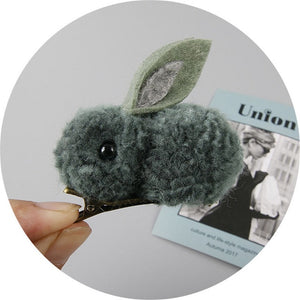 The Cutest Wittle Bunny Hairclips | Felt Plush Rabbits Kids Hair Accessories