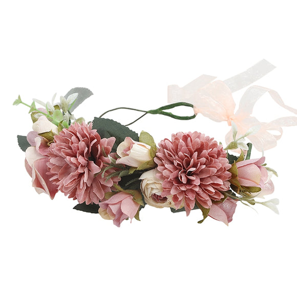 Floral Head Wreath Flower Garland Crown | Head piece | Festival Wedding Wear