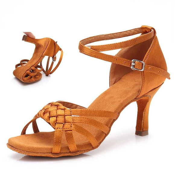 Latin Dance Shoes Comfortable Satin Dancing Shoes
