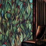 Water Reeds Stained Glass Window Film | 100cm