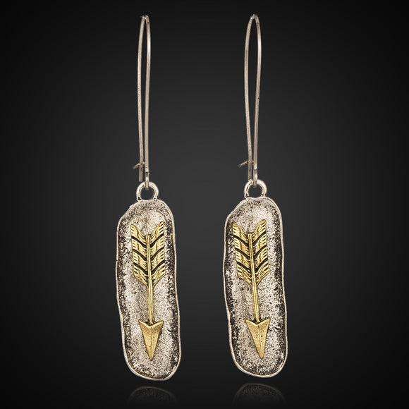Warrior's Arrow Drop Earrings