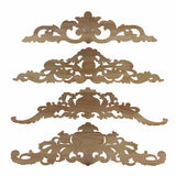 Carved Wood Embellishment Toppers