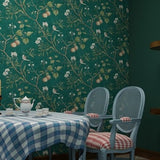 Vintage Apple Tree Mural | Wallpaper Roll | Green, Yellow or Blue