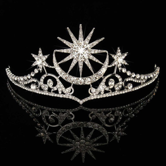 The Star & Moon Crystal Tiara | Woodland Gatherer Crowns