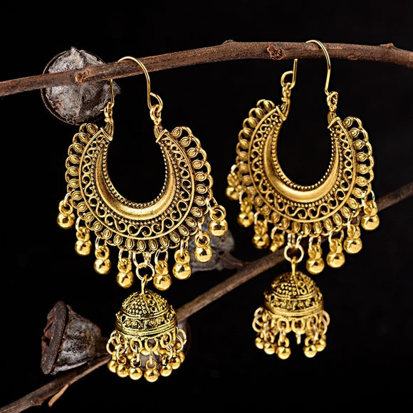 Vintage Style Earrings | Silver Gold Bells & Tassels | Many Styles To Choose From