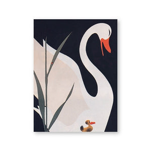 Woodland Animal Room Decor Canvas Wall Art Nordic Retro Vintage Swan | Woodland Gatherer | Australian Online Store | Gifts & Treasures | Special Occasions & Everyday Fun | Boho Life | Whimsical Treats | Jewellery | Fashion | Crafting DYI | Stationery | Boho Festival Fashion