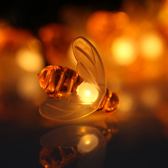 Honey Bee LED Fairy Lights | Solar Powered