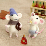 DIY Wool Felting Activity Set | Mouse Toy Doll | Wool Poked Needle | DIY Kit Package