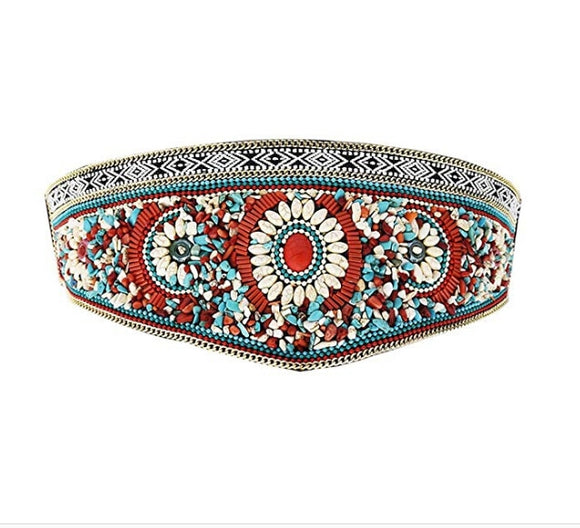 Gypsy Belt Boho Beaded Waistband Body