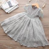 Girls Lace Party Wedding Dress