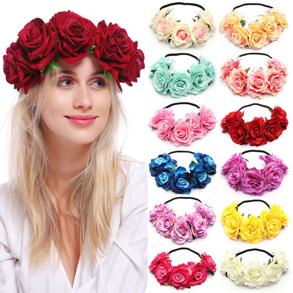 Boho Floral Crown Roses Many Colours Woodland Boho Fashion | Woodland Gatherer | Australian Online Store | Gifts & Treasures | Special Occasions & Everyday Fun | Boho Life | Whimsical Treats | Jewellery | Fashion | Crafting DYI | Stationery | Boho Festival Fashion