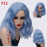 Rainbow Cosplay Wigs | 16inch Short Ombre Wig | 24 Options