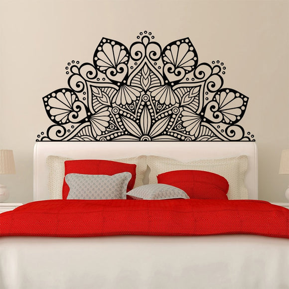 Mandala Bed Head | Wall Vinyl Sticker