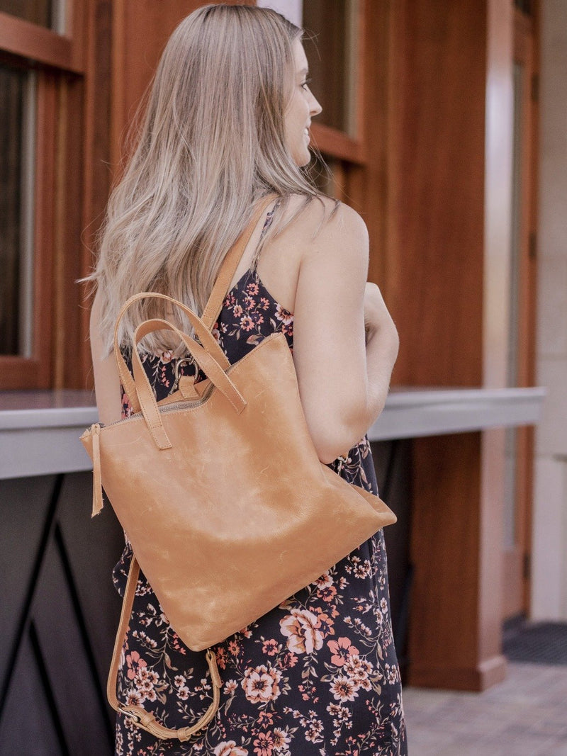 perfect leather backpack for your fall wardrobe