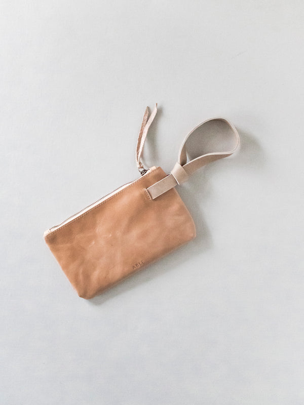 leather wristlet - special order