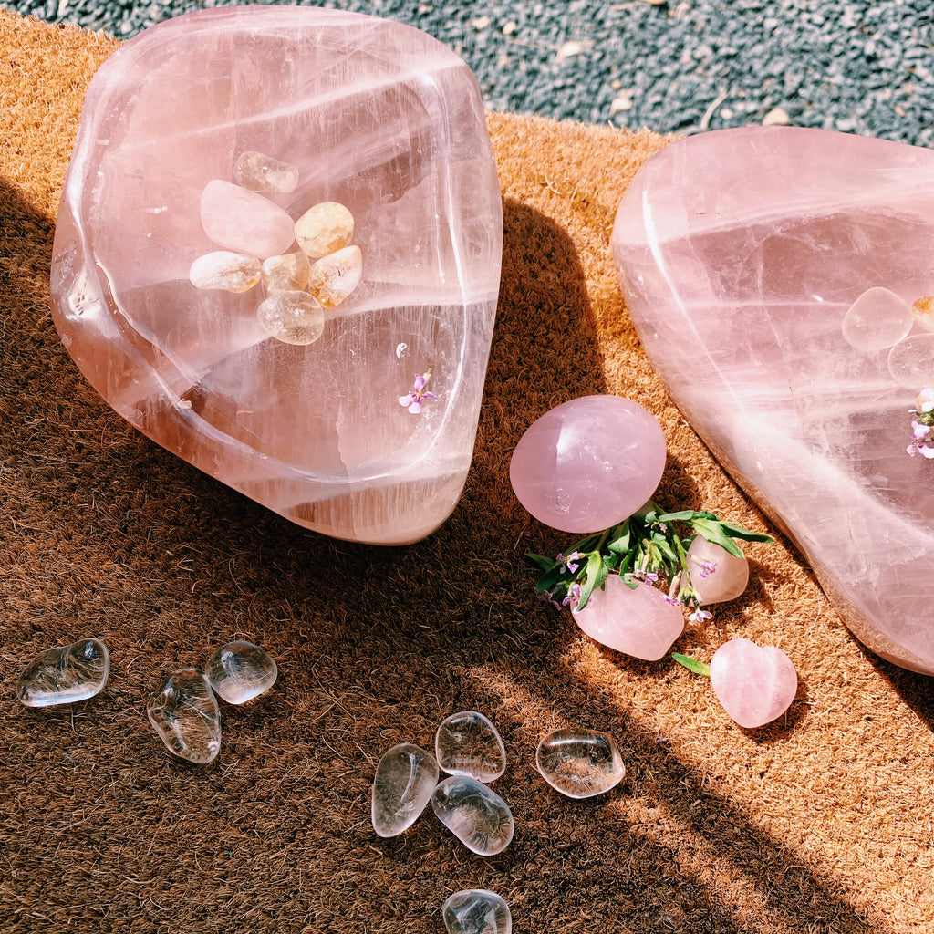 XL Rose Quartz Bowl