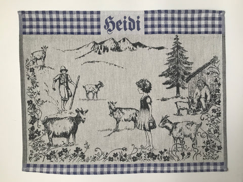 Heidi Swiss Alps Jacquard Woven Kitchen Tea Towel