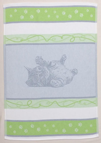 Cat Jacquard Woven Kitchen Tea Towel - Crystal Arrow