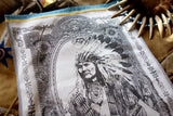 American Indian Chief Jacquard Woven Kitchen Tea Towel / Tapestry - Crystal Arrow