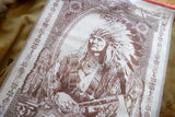American Indian Chief Jacquard Woven Luxury Kitchen Tea Towels / Tapestry