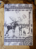 Moose Jacquard Woven Luxury Kitchen Tea Towels / Tapestry