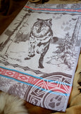 Wolf Jacquard Woven Kitchen Tea Towel / Tapestry - Crystal Arrow