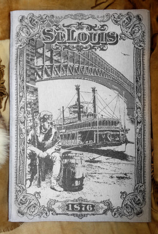 St Louis Jacquard Woven Kitchen Tea Towel /  Tapestry - Crystal Arrow