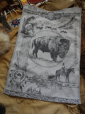 Bison / Buffalo Jacquard Woven Kitchen Tea Towel / Tapestry - Crystal Arrow