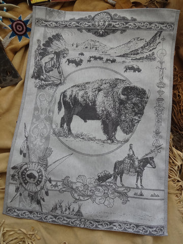 Bison / Buffalo Jacquard Woven Luxury Kitchen Tea Towels / Tapestry