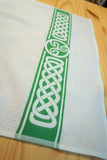 Celtic Knot Irish Design Jacquard Woven Kitchen Tea Towel - Green Cotton Woven Towels