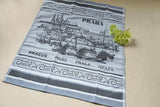 Prague Jacquard Woven Kitchen Tea Towel / Tapestry - Crystal Arrow