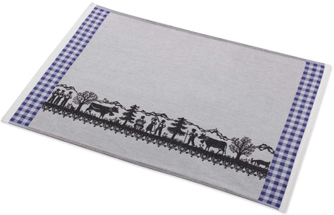 Swiss Alps Parade Jacquard Woven Kitchen Tea Towel - Crystal Arrow