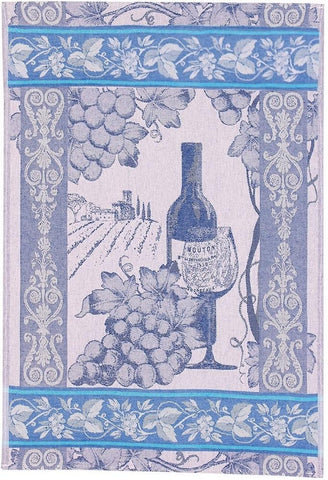 Wine Jacquard Woven Luxury Kitchen Tea Towels / Tapestry