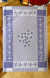 Columbine Flower Jacquard Woven Kitchen Tea Towel - Crystal Arrow