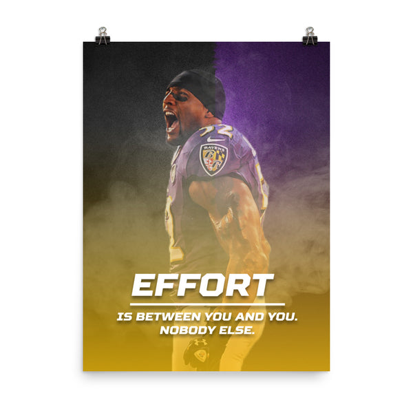 Effort Poster | Ray Lewis
