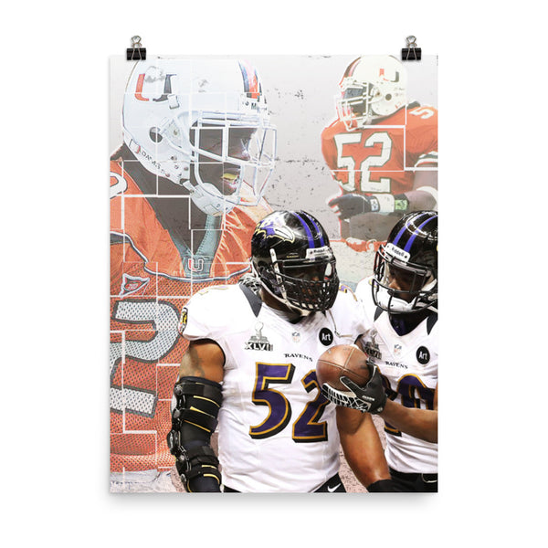 Ray Lewis & Ed Reed Teammates Poster