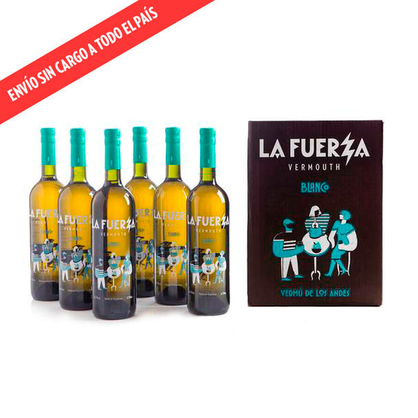 Caja de 6 botellas de vermú La Fuerza BLANCO (botellas de 750 ml)