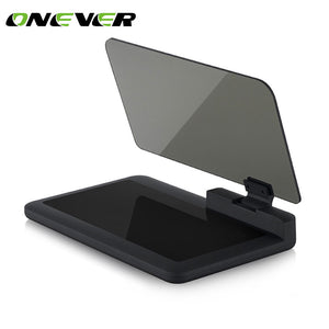 Onever Car HUD Head Up Display Projector Phone GPS Navigation Holder Bracket Car Auto Reflection Projector for iPhone 8 8 Plus