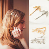 H:HYDE Multi Style Minimalist Jewelry Gold-Color Silver Color Hair Accessories For Women Animal Birds Cat Hairgrips Hairwear