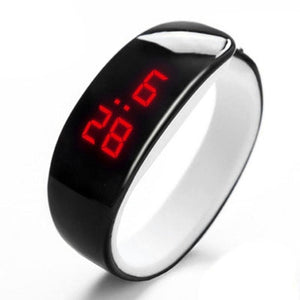Gel New Band Unisex Wrist Silica Bangle Oval Sports Watch Fashion Bracelet