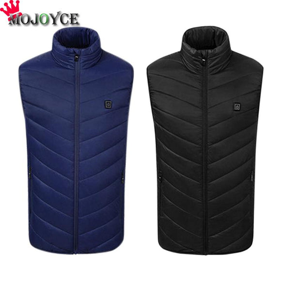 2018 New Men Women Electric Heated Vest Heating Waistcoat USB Thermal Warm Cloth Feather Hot Sale Winter Jacket