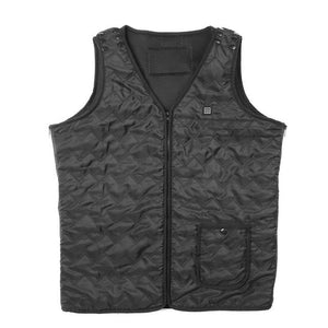 Warm Heated Vest Windproof Thermal Thick Vest Sandwich Mesh Cloth Breathable for Men Winter Outdoor Sports Bodywarmer Waistcoat